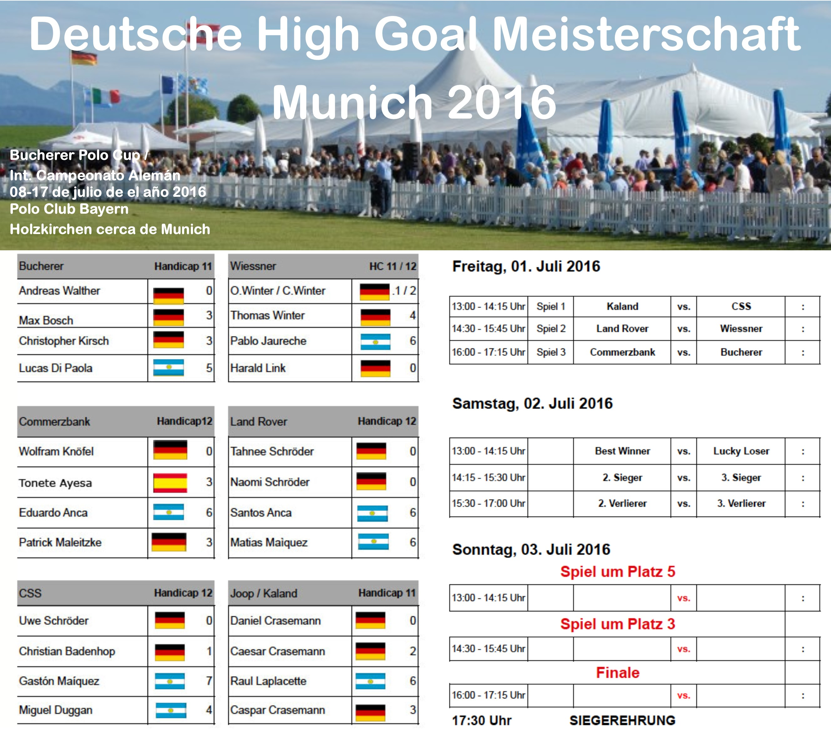 Deutsche High Goal Meisterschaft Munich 2016